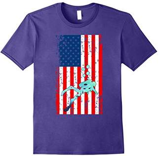 The American Flag Scuba Diving Deep Sea T-Shirt