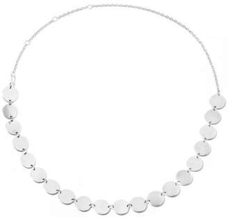 Paillettes Silver Necklace - one size