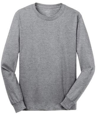 Port & Company Men's Rib Knit Cuffs Long Sleeve T-Shirt
