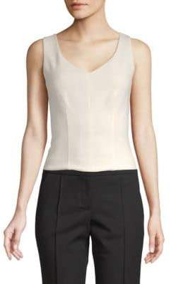 ADAM by Adam Lippes Solid V-Neck Top