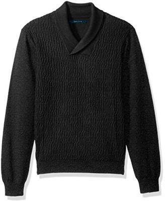 Perry Ellis Men's Cable Shawl Pullover Sweater