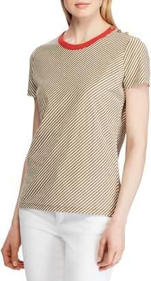 Lauren Ralph Lauren Spiral Striped Cotton Tee