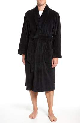 Nordstrom Shadow Plaid Fleece Robe