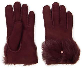 UGG Real Fur Bow Gloves