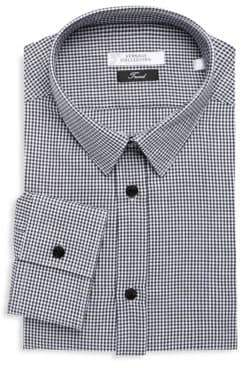 Versace Trend Gingham Dress Shirt