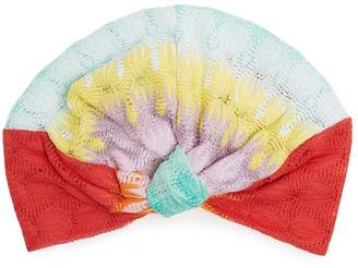 Missoni MARE Fish-scale knitted turban hat