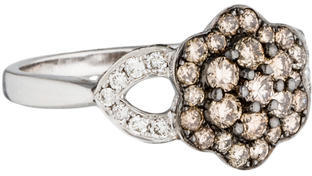 Le Vian 14K Diamond Flower Ring $895 thestylecure.com