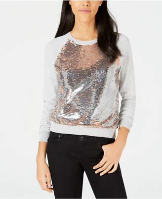 Bar III Sequined Raglan Sweatshirt