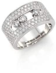 Möve Messika Diamond& 18K White Gold Ring