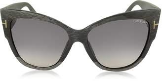 Tom Ford ANOUSHKA FT0371 38B Dove Grey Cat Eye Sunglasses