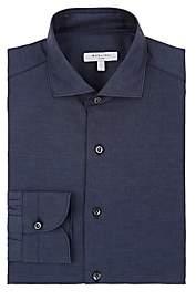 Boglioli Men's Denim-Effect Cotton Oxford Cloth Dress Shirt - Navy