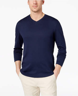 Tasso Elba Men's Supima Blend Knit V-Neck Long-Sleeve T-Shirt