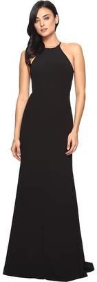 Faviana Crepe Halter w/ Strap Sides S7913 Women's Dress