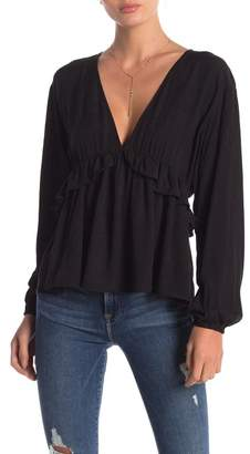Anama Deep V-Neck Blouse