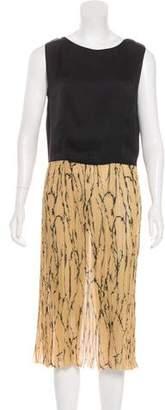 Dries Van Noten Printed Pleated Dress