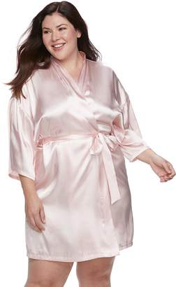 Apt. 9 Plus Size Satin Wrap Robe