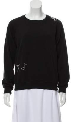 Saint Laurent Embellished Pullover Sweatshirt