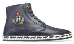 Bally Animal Alpistar Leather High-Top Sneakers