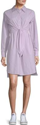 Max Studio Women's Tie Waist Shirtdress