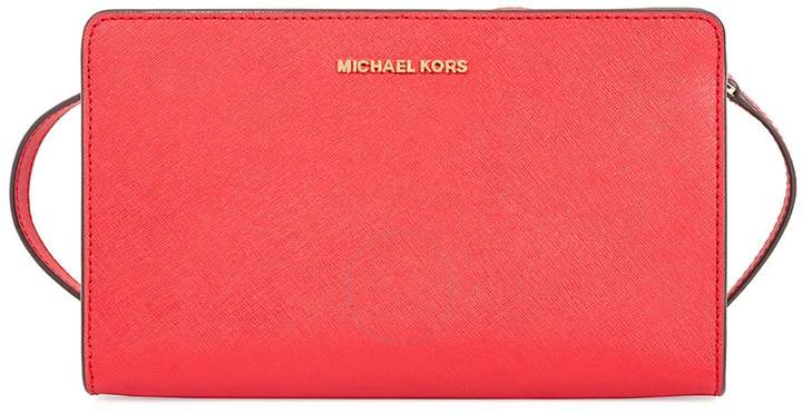Michael Kors Jet Set Large Crossbody Clutch - Bright Red - ONE COLOR - STYLE