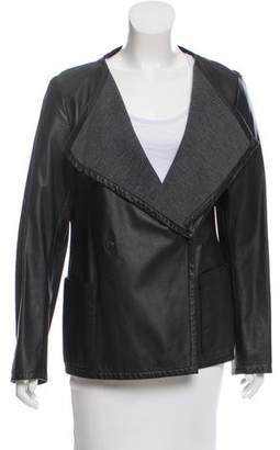 Akris Punto Long Sleeve Leather Jacket