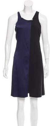 Paco Rabanne Two-Tone Knee-Length Dress