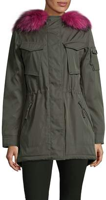 S13/Nyc S 13/NYC Women's Faux Fur-Trimmed Military Parka