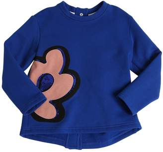 Marni Junior Patch & Sequins Cotton Sweatshirt