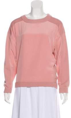 Chloé Crew Neck Silk Sweatshirt