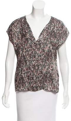 Emporio Armani Printed Short Sleeve Top