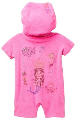 Butter Shoes Super Soft Terry Hooded Romper (Baby Girls)