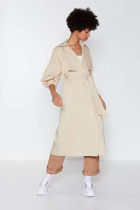 Nasty Gal Sleeve 'Em Wanting More Trench Coat