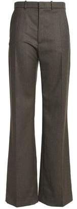 Joseph Wool-Blend Twill Flared Pants