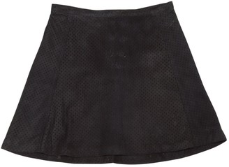 Theory Black Suede Skirts
