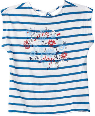 Nautica Girls' Sunny Days Blue Stripe Top