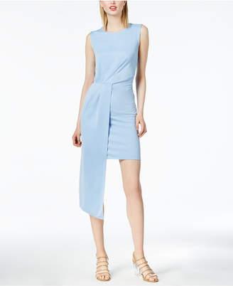 Bar III Sleeveless Asymmetrical-Drape Dress, Created for Macy's