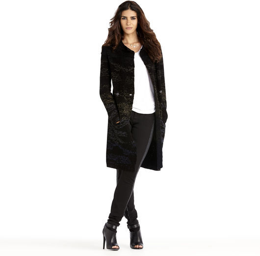 Rachel Roy Faded Chenille Coat
