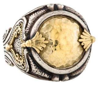 Konstantino Hammered Ring silver Hammered Ring