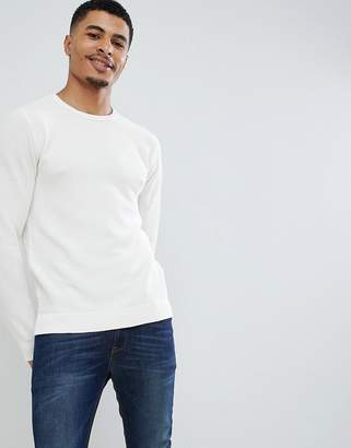 Jack and Jones Essentials crew neck sweater in texture