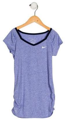 Nike Girls' V-Neck Athletic Top