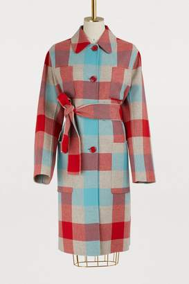 Bottega Veneta Checked coat