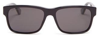 Gucci - Square Frame Acetate Glasses - Mens - Black