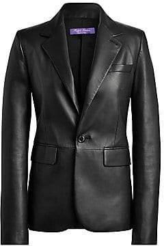 Ralph Lauren Women's Leather Raquel One Button Blazer - Size 0