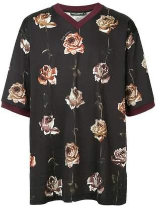 Dolce & Gabbana floral short-sleeve T-shirt