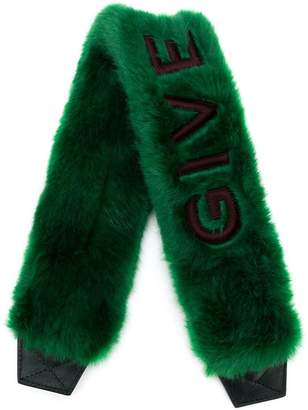 Givenchy wide furry shoulder strap