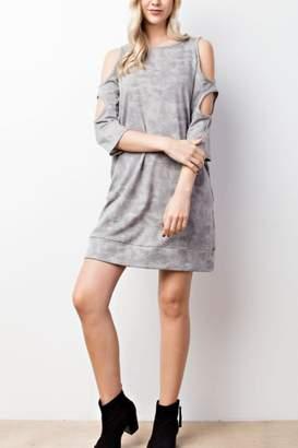Mts Cold-Shoulder Pocket Dress