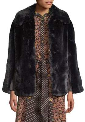 Opening Ceremony Faux Fur Double-Breasted Jacket