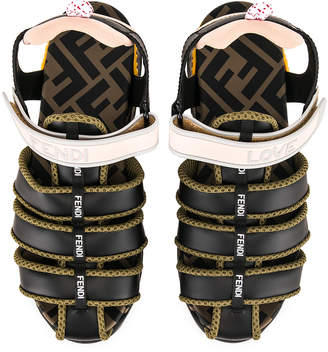 Fendi T Rex Sandals in Black | FWRD