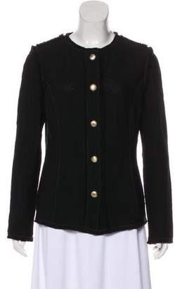 St. John Fringed Button-Up Jacket