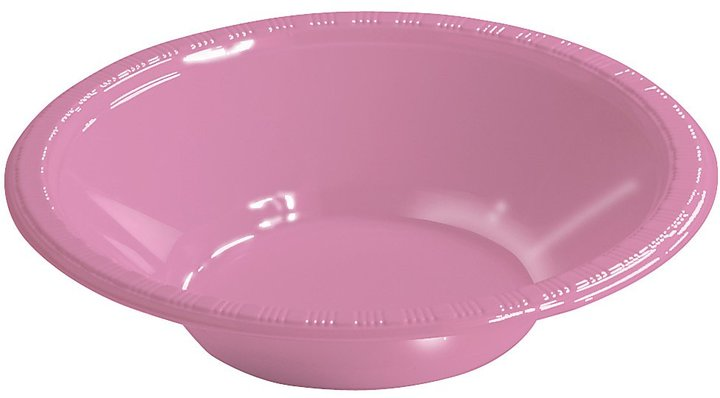 Creative Converting Candy Pink Plastic Bowls - 20 ct
